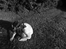 Enfant de fleur en noir et blanc Images stock