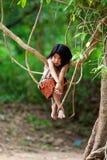 Enfant de Khmer au Cambodge Images libres de droits