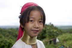 enfant de l'Asie longtemps étranglé Image libre de droits