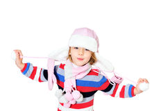 Enfant de l'hiver Photo libre de droits