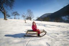 Enfant de l'hiver Photographie stock libre de droits