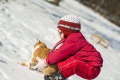 Enfant de l'hiver Photographie stock