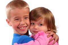 enfant de mêmes parents d'affection Photographie stock