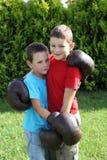 Enfant de mêmes parents de boxe Photographie stock
