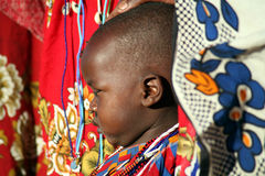 Enfant de masai (Kenya) Photo stock