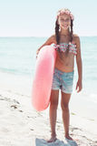 Enfant de mode à la plage Photographie stock