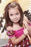 Enfant de parapluie Photographie stock