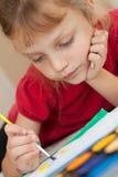 Enfant de peinture Photos libres de droits