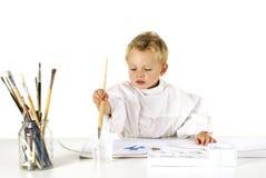 Enfant de peinture Photo stock