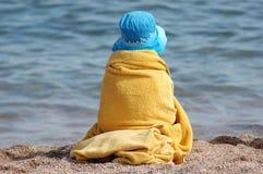 Enfant de plage Photographie stock