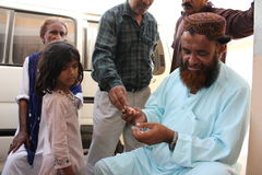 Enfant de réfugié au Pakistan Image libre de droits