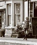 Enfant de réfugié de WWII Photographie stock libre de droits
