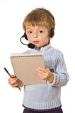 Enfant de service à la clientèle. Images libres de droits