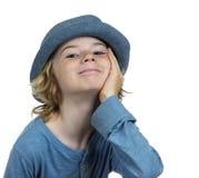 Enfant de sourire occasionnel de garçon Photo stock