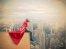 Enfant de superhéros Photos libres de droits
