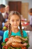 Enfant de thanksgiving Image libre de droits