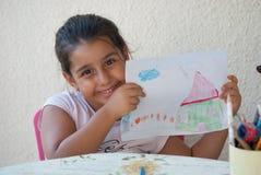 Enfant dessinant 5 Images libres de droits