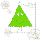Enfant drôle de carte de Noël Images stock