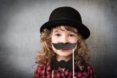 Enfant drôle de hippie photo stock