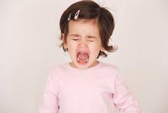 Enfant en bas âge ayant une humeur Photo libre de droits