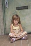 Enfant en bas âge boudant Photo stock
