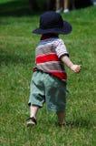 Enfant en bas âge courant Images stock
