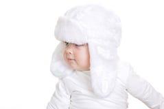 Enfant en bas âge de bébé d'hiver Image libre de droits