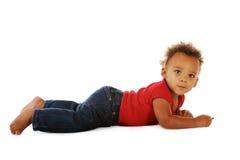 Enfant en bas âge de coloration Image libre de droits