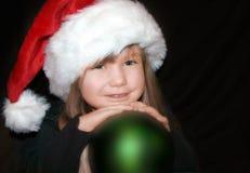 Enfant en bas âge de Noël Images libres de droits