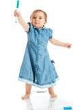 enfant en bas âge de repère photo libre de droits
