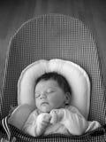 Enfant en bas âge de sommeil Image stock