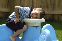 Enfant en bas âge de sourire Photo stock