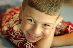 Enfant en bas âge de sourire Photographie stock