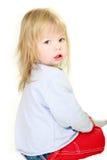 enfant en bas âge mignon de verticale de fille Photographie stock libre de droits