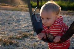 Enfant en bas âge pensif Photo libre de droits