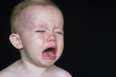 Enfant en bas âge pleurant Photo stock