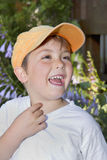 Enfant en bas âge riant Photo stock