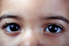 Enfant en bas âge ? yeux de s Photo stock