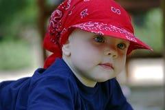 Enfant en bas âge avec des œil bleu Photo libre de droits
