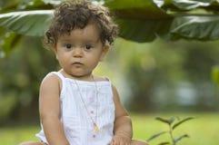 Enfant en bas âge dans les tropiques Image libre de droits