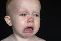 Enfant en bas âge pleurant Images stock