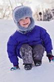Enfant en hiver Image libre de droits