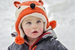Enfant en hiver Images libres de droits