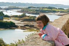 Enfant en vacances Images libres de droits