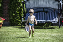 Enfant en vacances Photo stock