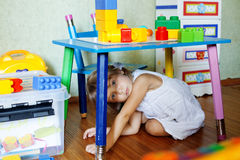 Enfant espiègle Image stock