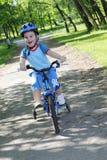 Enfant et bicyclette Images libres de droits