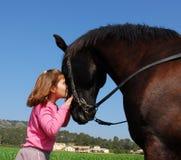 Enfant et cheval Image libre de droits
