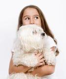 Enfant et crabot Photographie stock libre de droits