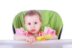 Enfant et dîner Photo libre de droits